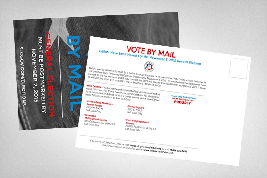 Salt Lake City Vote By Mail Campaign Postcard Mockups