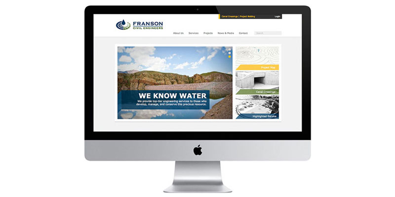 Franson Civil Engineering Website Redesign